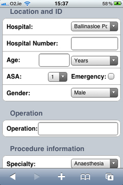 Logbook on the iPhone